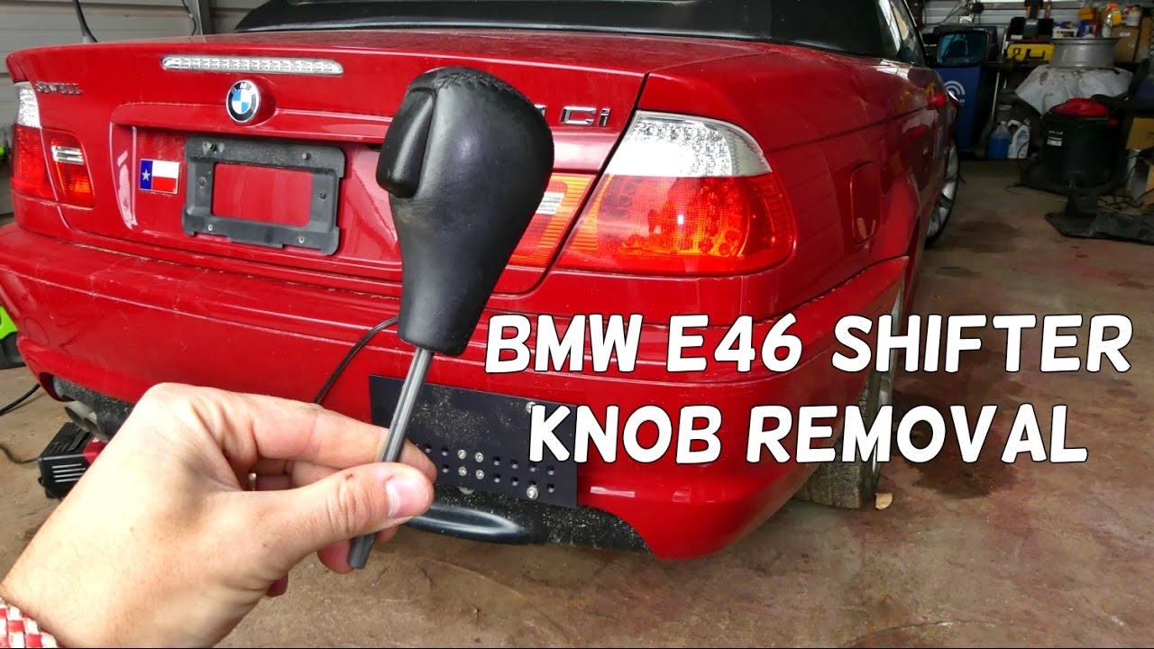 Bmw E46 Automatic Shifter Knob Removal Replacement Shifting Youtube
