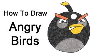 How to Draw Angry Birds (Black Bird)