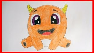 How to draw Cute monster, cute stuff, cartoons