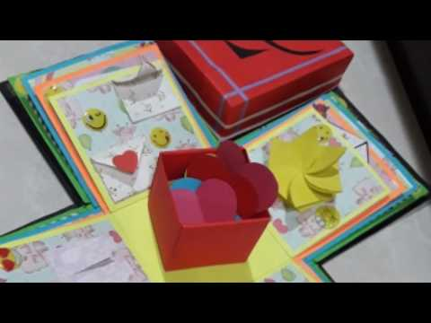 Gift Idea Explosion Box For Little Brother Surprize Birthday Homemade