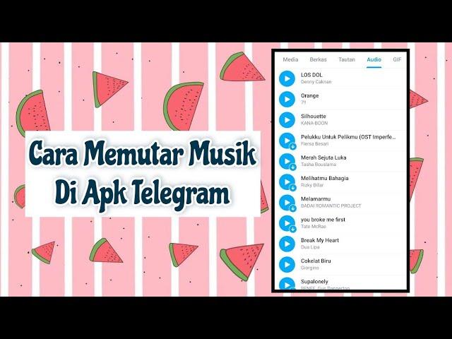 cara memutar lagu melalui apk telegram