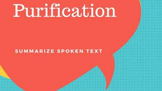 Water Purification - Summarize Spoken Text | PTE King