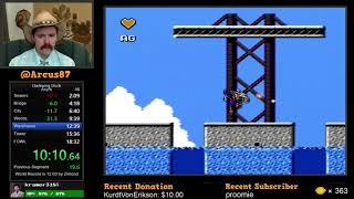 Darkwing Duck NES speedrun in 17:34 by Arcus