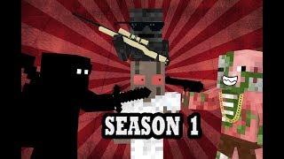 Monster School: SEASON 1 BEST EPISODES - Minecraft Animation