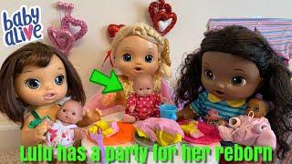Baby Alive Lulus Reborn baby Birthday Party