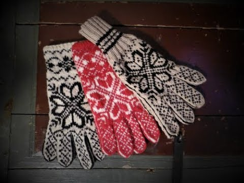 How To Knit Fingers On Norwegian Selbu Gloves, Step By Step.