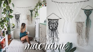 How To Macrame // Beginner's Tutorial (Easy, Step by Step Guide)