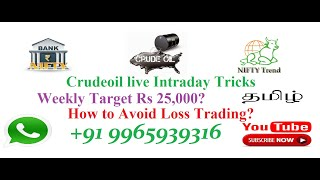 Daily profit Stratergy in 100%Crudeoil live Intraday technique using adx+pivot point+supertrend tami