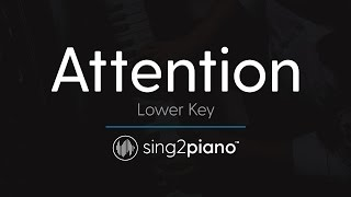 Attention [LOWER Piano Karaoke] Charlie Puth
