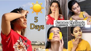 5 Days Challenge : Summer Skin Care Problems & Their Solutions | Super Style Tips