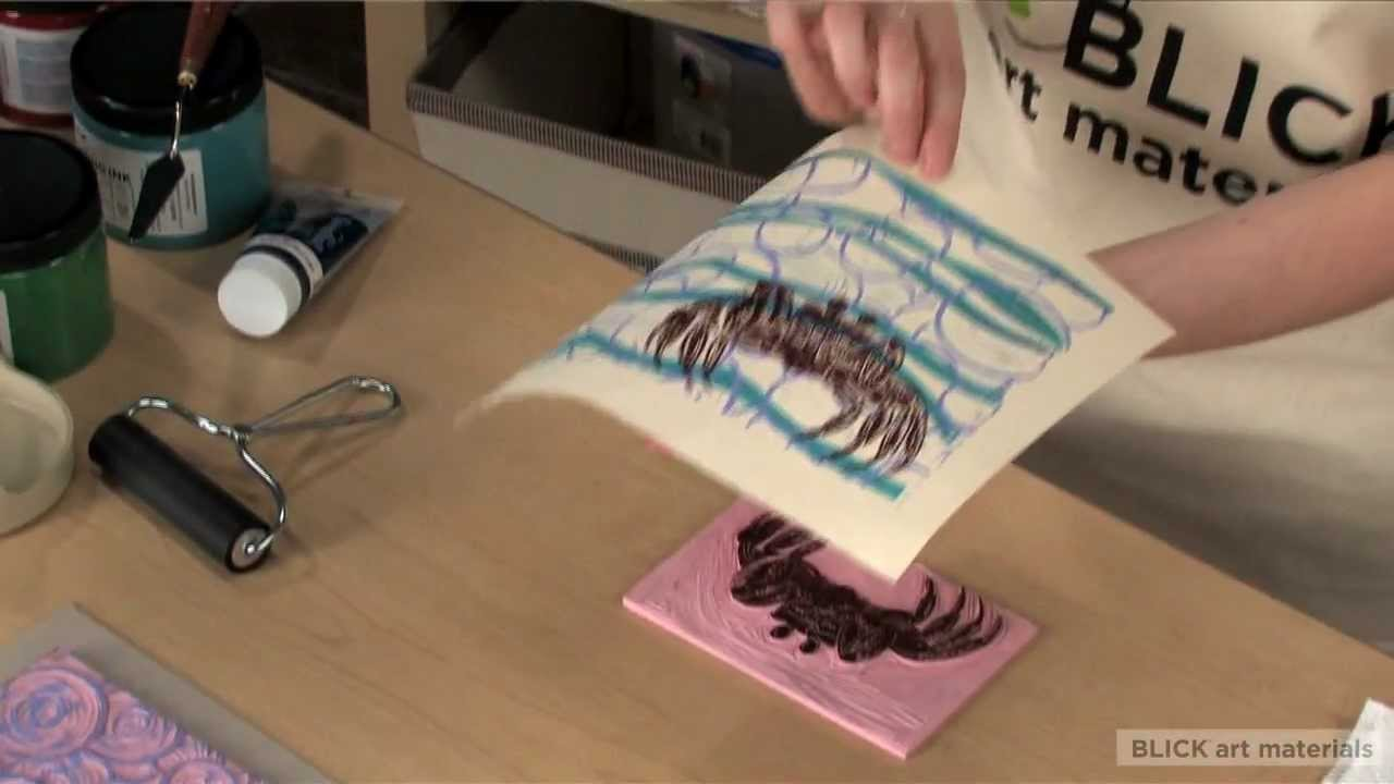 Multi Layer Block Print Technique - YouTube