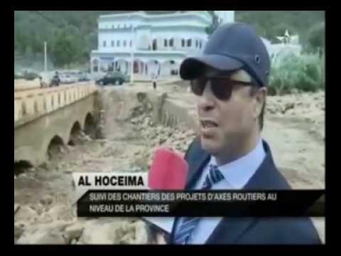 Reportage de la chaîne Al Oula sur la visite de M. Amara aux chantiers routiers d'Al Hoceima