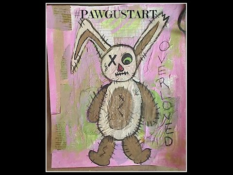 #pawgustart Overloved Folk Art Bunny