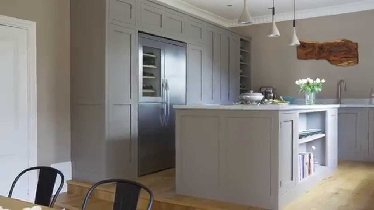 Open House An Open Plan Taupe Coloured Kitchen In A