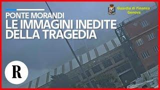 Ponte Morandi, le immagini inedite della tragedia: il crollo ripreso dalla videosorveglianza