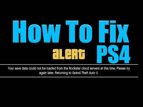 (PS4) GTA 5 How To Fix Your Save Data Could Not Be Loaded From The Rockstar Cloud Servers