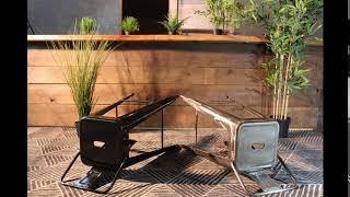 Tolix bar stool with back 75cm