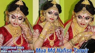 ||BENGALI  HD  BRIDAL MAKEUP|| Step -by-step Demonstration||Mua MD NAFISA TANVIR