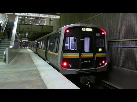MARTA Transit: 2003 Breda CQ312 Blue Line at Dome/GWCC/Philips/CNN Station