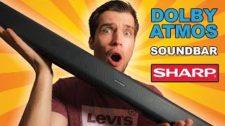 SHARP HT-SBW800 5.1.2 Review - BEST Affordable DOLBY ATMOS SOUNDBAR 2020!