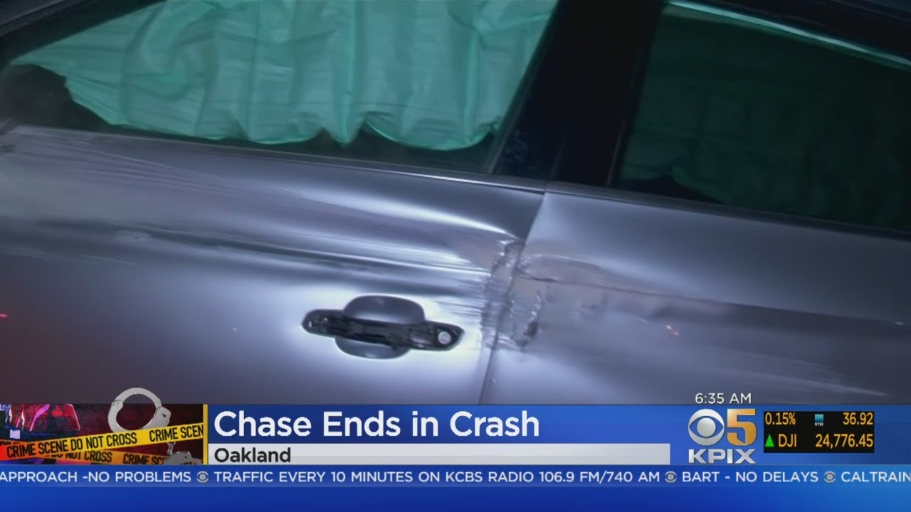 East Bay High Speed Chase Ends In Crash