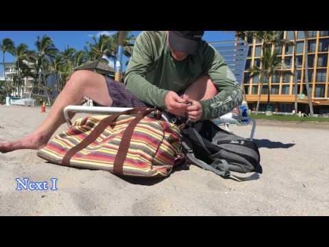 Beach Security Hack: How to lock up your beach bags using an anti-theft device and you beach lounger