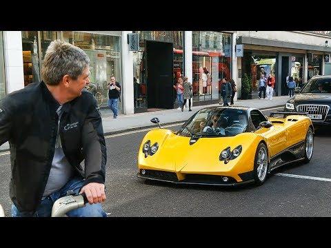 €1.5Million Pagani Zonda F Clubsport Driving in London!