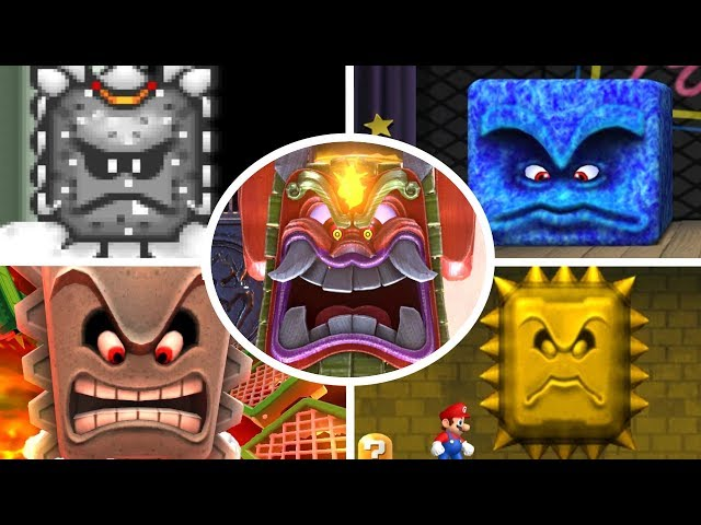 Evolution of Thwomps (1988-2017)