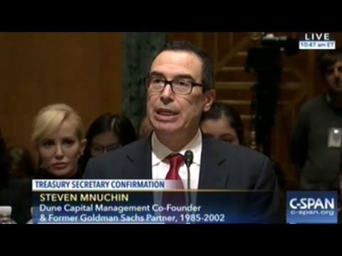 Treasury Secretary Nominee Steven Mnuchin Confirmation Hearing