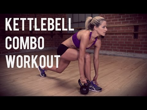 25 Minute Kettlebell Combo Workout for Full Body Strength and Cardio