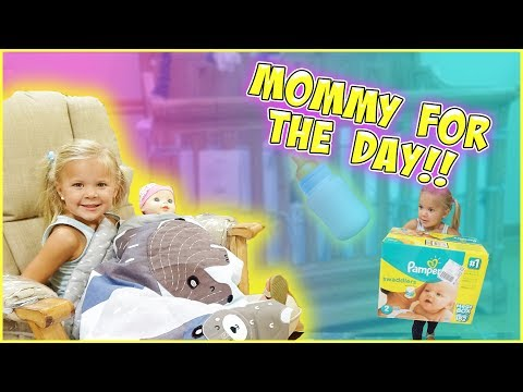 BABY RORY IS A MOM FOR THE DAY!! CHALLENGE
