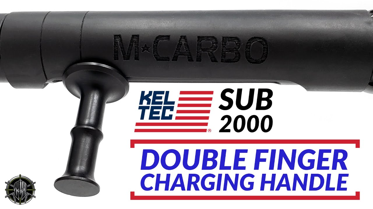 KEL TEC SUB 2000 Double Finger Charging Handle | KEL TEC SUB 2000  Accessories!