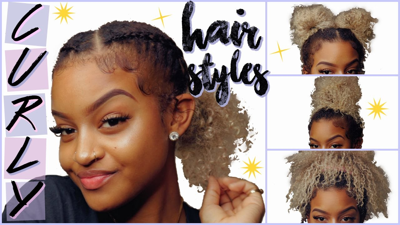 Easy Curly Hairstyles For Lazy Days How I Lay My Edges Itztinyt