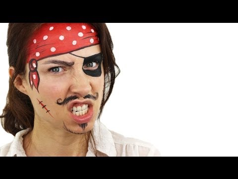 Beginners Pirate Face Painting Tutorial | Snazaroo