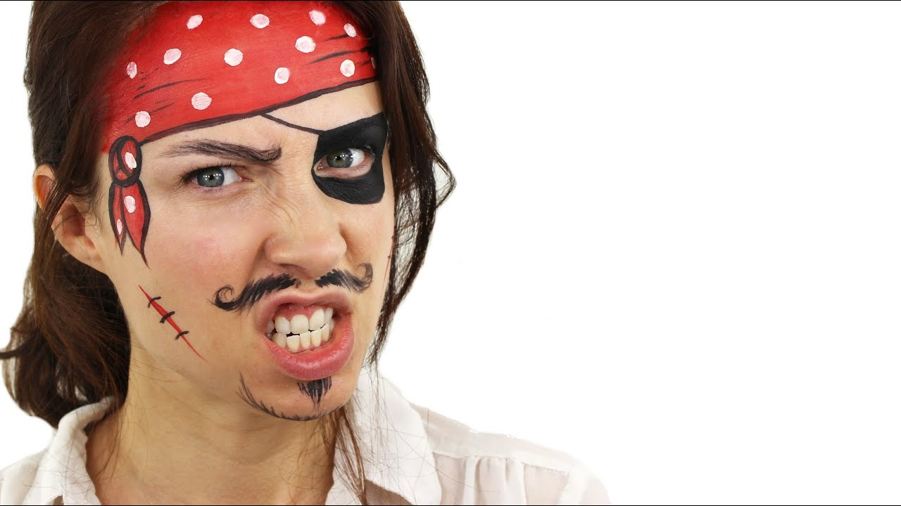 Uncategorized Pirate Faces beginners pirate face painting tutorial snazaroo youtube