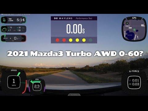 2021 Mazda3 Turbo Hatch AWD // 0-60 // 2nd Run