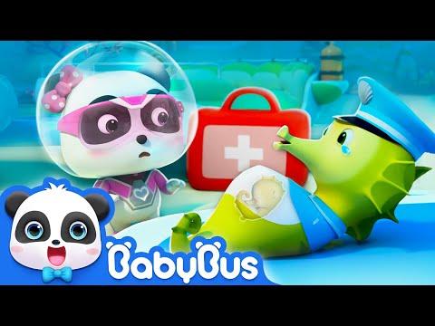 Super Panda Terjebak Di Big Ocean Whirlpool | Tim Penyelamat Super 9 | Panda Cartoon | BabyBus