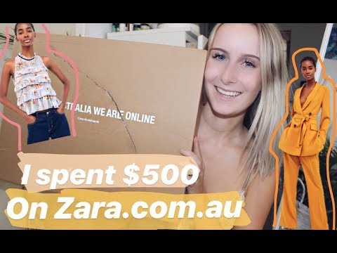 I Spent $500 On The New Zara Australia Website!! | Try-on Haul, First Impressions And Review