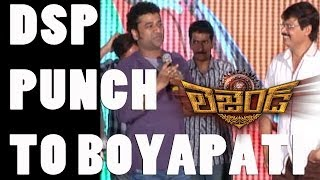 DSP punch to Boyapati - Legend Success meet