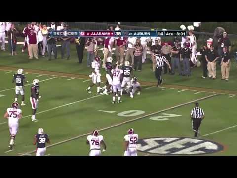 Alabama vs Auburn 2011: Trent Richardson 57 Yard Rush