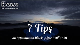 7 Tips on Returning to Work After COVID-19