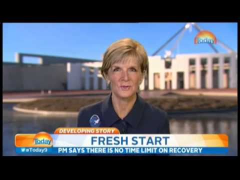 'Karl, this is a silly line of questioning': Watch as a frustrated Julie Bishop struggles to keep h