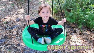 Super Spinner Child Swing - Use On Swing Set Or On A Tree