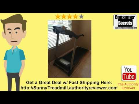 Thumbnail for Sunny Health & Fitness Treadmill SF-T4400 Review
