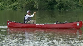 Man making dream come true with Mississippi River journey by canoe