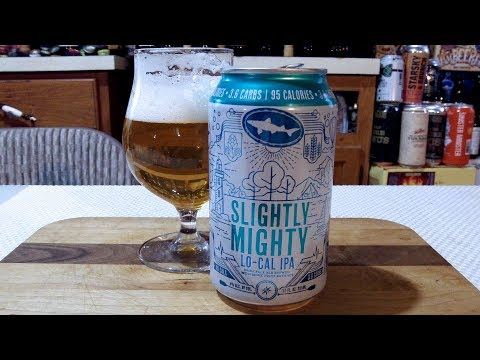 DogFish Head Slightly Mighty Lo-Cal IPA (4.0% ABV) IPA DJs BrewTube Beer Review #1230