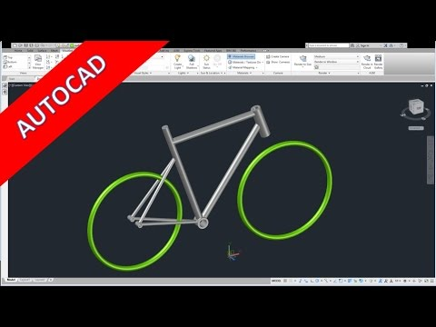 Bicycle Frame - Quick & Dirty - Autocad 2017 Training