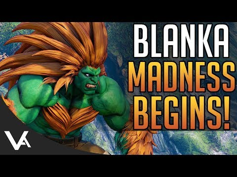 SFV - Blanka, The Madness Begins! Blanka Ranked Gameplay Matches For Street Fighter 5