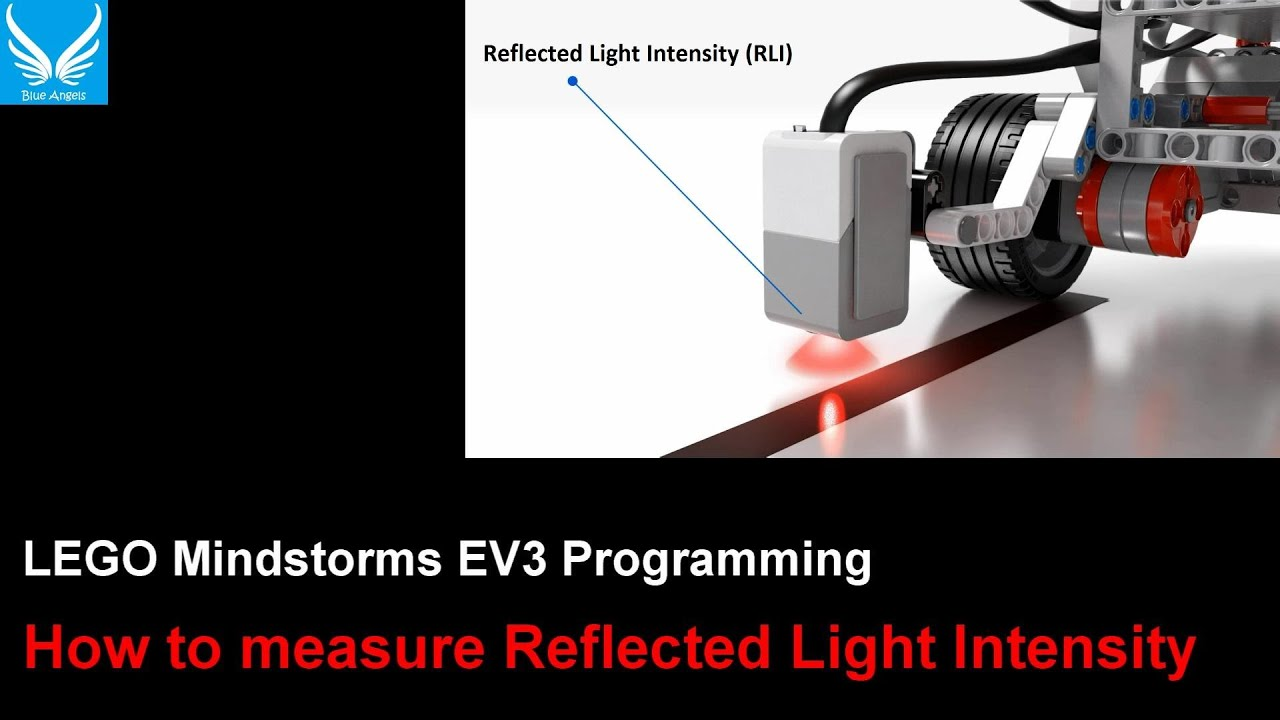 EV3 Programming 1.8: How to measure Reflected Light Int