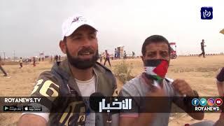 عشرات الإصابات في الجمعة السادسة من مسيرات العودة في غزة - (3-5-2018)